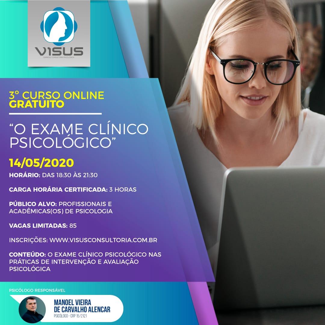 CURSO ON-LINE GRATUITO: O EXAME CLÍNICO PSICOLÓGICO.